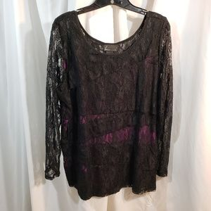 Lane Bryant Collection 2x violet knit black stretc